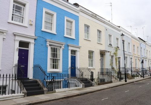Pastel Houses Notting Hill