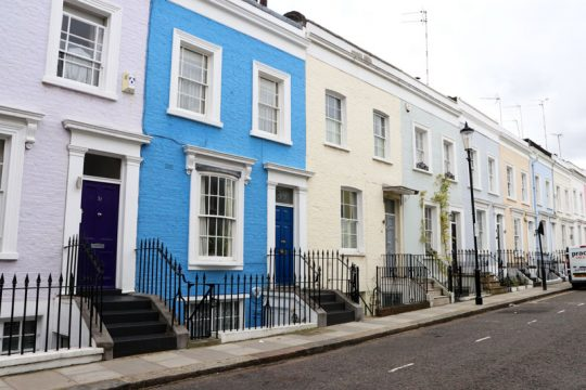 Notting-Hill Pastel Houses
